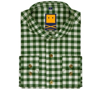 Trashness BRUSHED CUTAWAY GREEN SHIRT