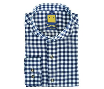 Trashness BRUSHED CUTAWAY LAPIS SHIRT