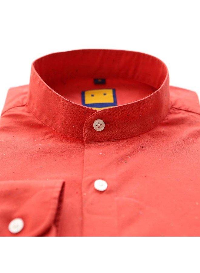 SPECKLED MANDARIN RED SHIRT
