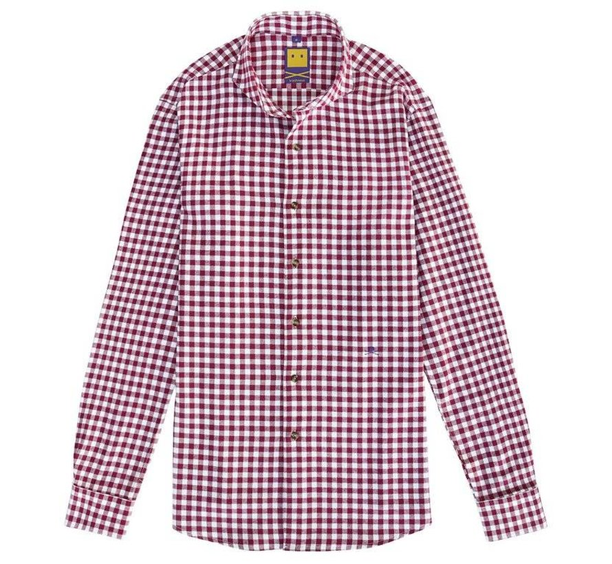 BRUSHED CUTAWAY RUBY SHIRT