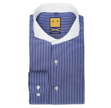 Trashness CUTAWAY THIN STRIPED BLUE SHIRT