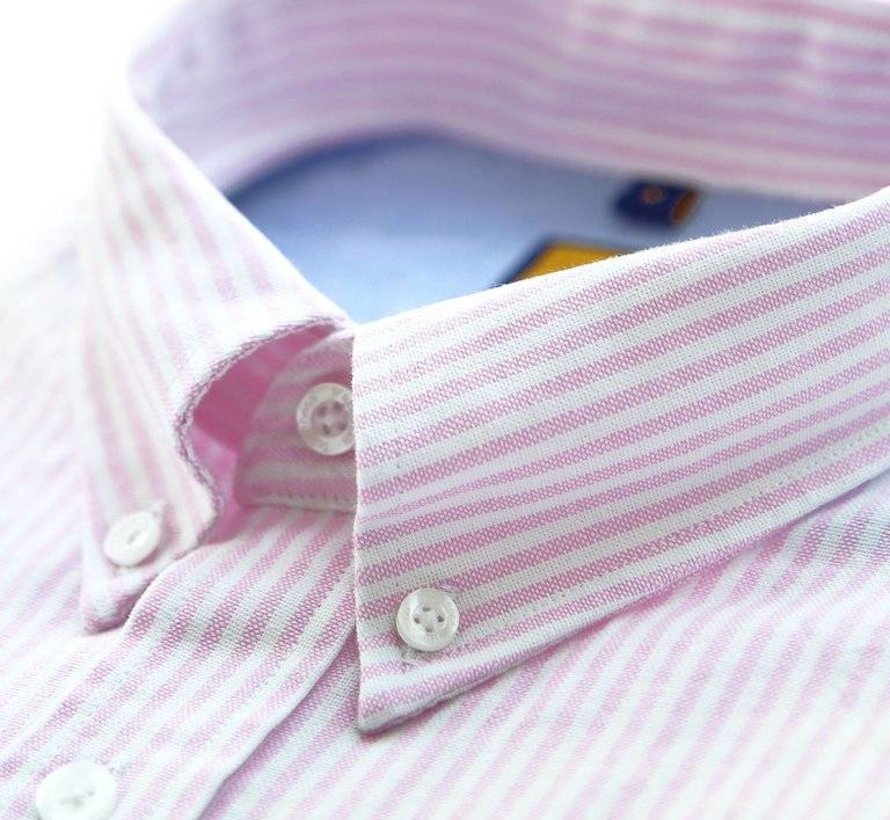 OCBD STRIPED PINK SHIRT