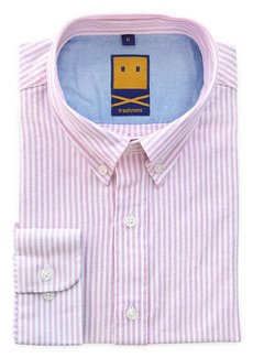 Trashness OCBD STRIPED PINK SHIRT