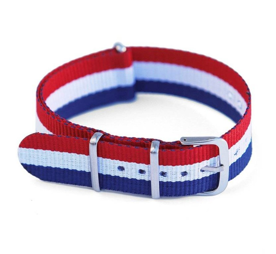 NATO STRAP RED/WHITE/BLUE