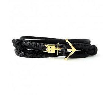 Trashness ANCHOR BRACELET BLACK