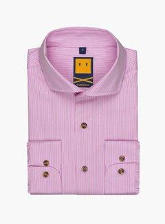 Trashness Spread Collar Striped Pink