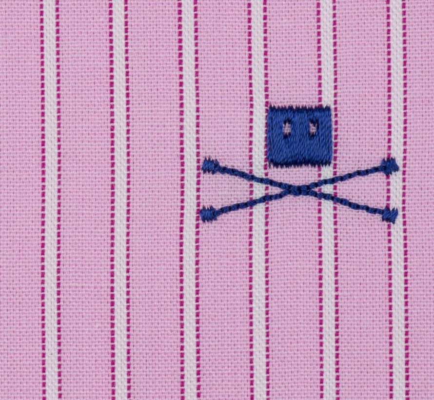 Spread Collar Striped Pink