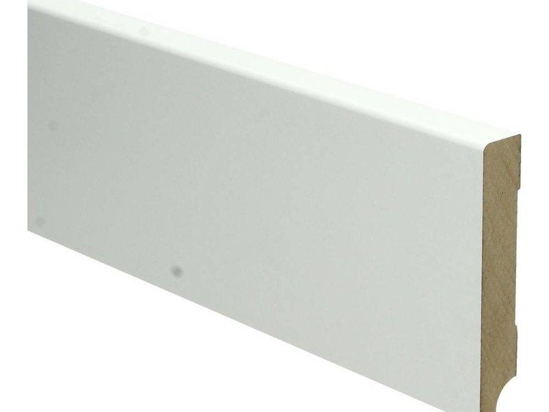 MDF Moderne plint 90x15 wit voorgelakt RAL 9010