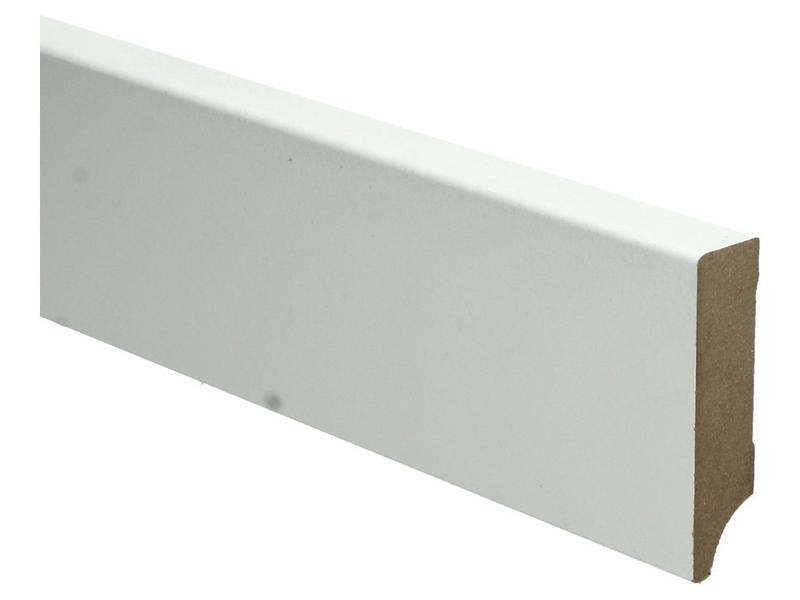 MDF Moderne plint 70x18 wit voorgelakt RAL 9010
