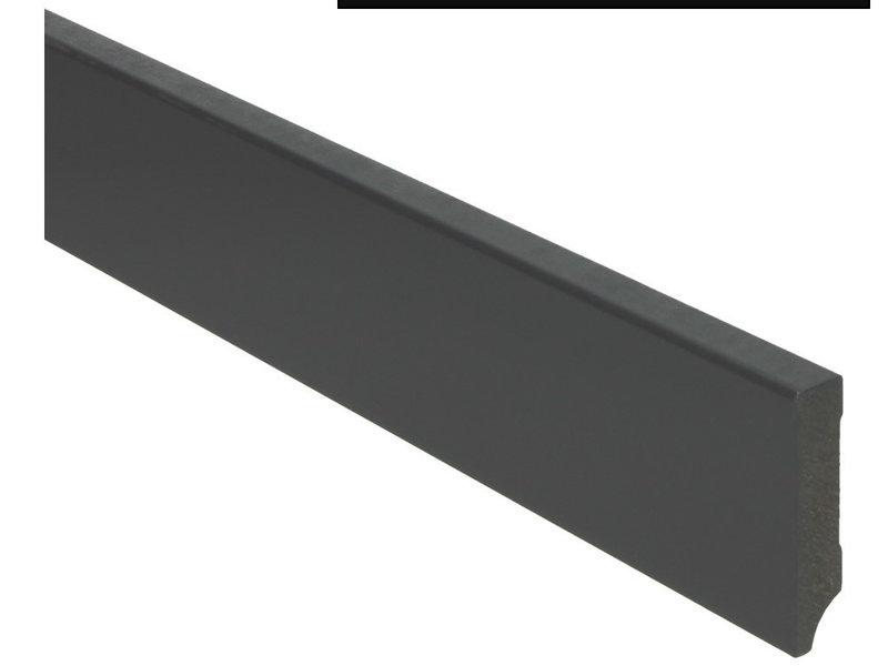MDF Moderne plint 70x15 voorgelakt RAL 9005 Gitzwart