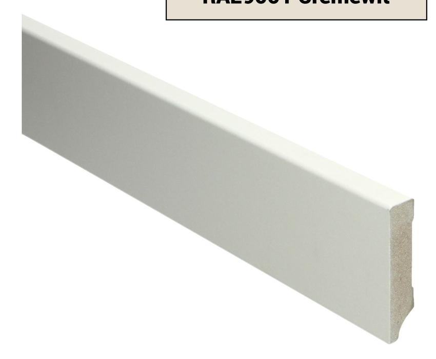 MDF Moderne plint 70x15 voorgelakt RAL 9001 Cremewit