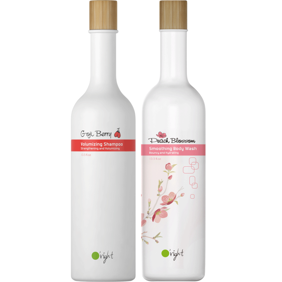 Set Goji Berry + Peach Shampoo & Bodywash 400ml
