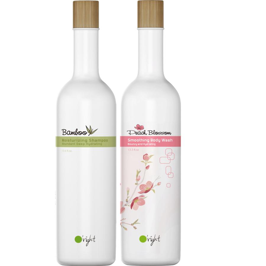 Set Bamboo + Peach Shampoo & Bodywash 400ml