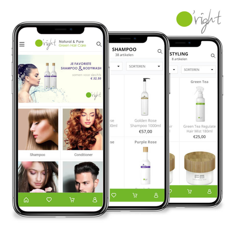 O'right app voor iOS of Androïd