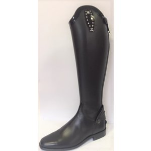 Petrie Zipper Boots (at the back) 25% discount Z440-6.0 Petrie Leeds Multi Color in black with black patent leather decoration and 2x 12 Swarowski stones in 6.0 46-36