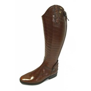 Petrie Zipper Boots (at the back) 25% discount Z441-6.0 Petrie Leeds Multicolour in croco print cognac calf leather UK 6.0 42-38 custom made