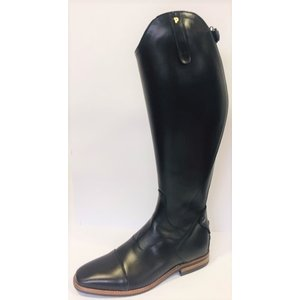 Petrie Zipper Boots (at the back) 25% discount Z514-7.5 Petrie Sportive in black calf leather with black contrast stitching in size 7.5 44-42 XW