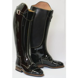 Petrie Polo Boots 25% discount P302-2.5 Petrie Superior black patent calf leaher size 2.5 41-40-36 custom made