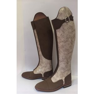 Petrie Polo Boots 25% discount P395-5.0 Petrie Superior creme colour honeycomb with medium brown in UK 5.0 series 9 XHE 47-35