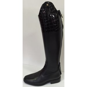 Petrie Jumping Boots (laced) 25% discount J417-6.0 Petrie Aachen in black croco leather 6.0 45-39 series 13 W
