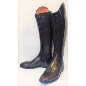 Petrie Dressage Boots 25% Discount D521-8.0 Petrie Sublime dressage brown calf leather and brown crocoleather shaft 8.0 45-37 custom made