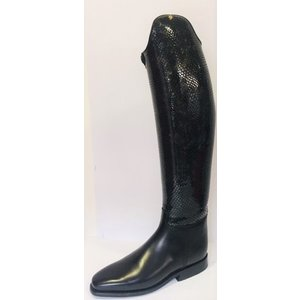 Petrie Dressage Boots 25% Discount D703-6.0 Petrie Anky Elegance in black calf leather with grey honeycomb shaft UK size 6.0 48-36 XHE