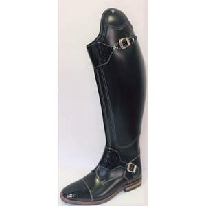 Petrie Polo Boots 25% discount P804-6.5 Petrie Polo Rome black contrast stitching+sole croco nose+strap 47-43 custom