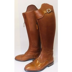 Petrie Polo Boots 25% discount P801-5.0 Petrie Superior cognac with cognac  honeycomb shaft UK size 5.0 47-40.5-38.5