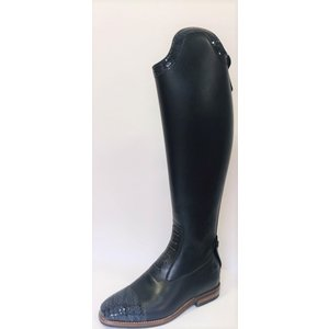 Petrie Jumping Boots (laced) 25% discount J603-6.0  Petrie Coventry blue  calf leather, honeycomb nose+stroke  UK size 6.0 49-38.5-36.5 custom