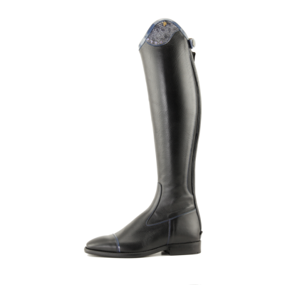 Petrie Boots Petrie Trento black Ridingboot with and top-cuff honeycomb