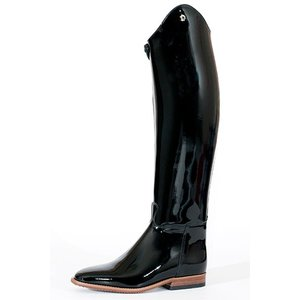 Petrie Dressage Boots 25% Discount D702-6.5 Petrie Anky Elegance in black patent leather wit Swarowski  UK size 65 44-33 custom