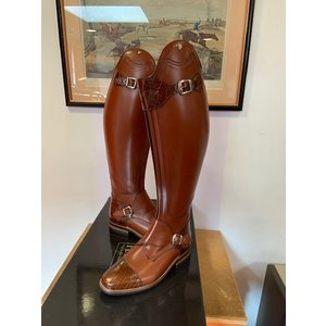 Petrie Polo Boots 25% discount P628-4.5 Petrie Polo Rome cognac calf leather in UK 4.5 -46-38.5