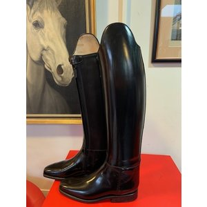 Petrie Dressage Boots 25% Discount D015-8.0  Petrie Anky Elegance in black brushed patent calf leather UK size 8.0 49-38-36
