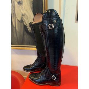 Petrie Polo Boots 25% discount P008-5.5  Petrie Polo Rome in black croco print  leather 5.5 46-37.5-36