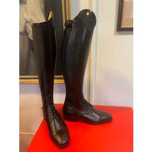 "Petrie Boots J009-5.0 Petrie Riva black Laced Ridingboot with and top-cuff ""stardust""  size 38 48-35 L"