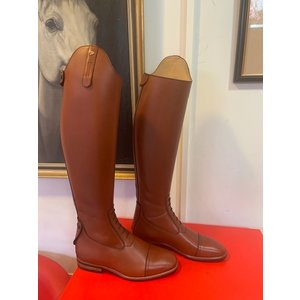 Petrie Jumping Boots (laced) 25% discount J017-5.0 Petrie Coventry cognac rind leather UK size 5.0 47-35 XHE