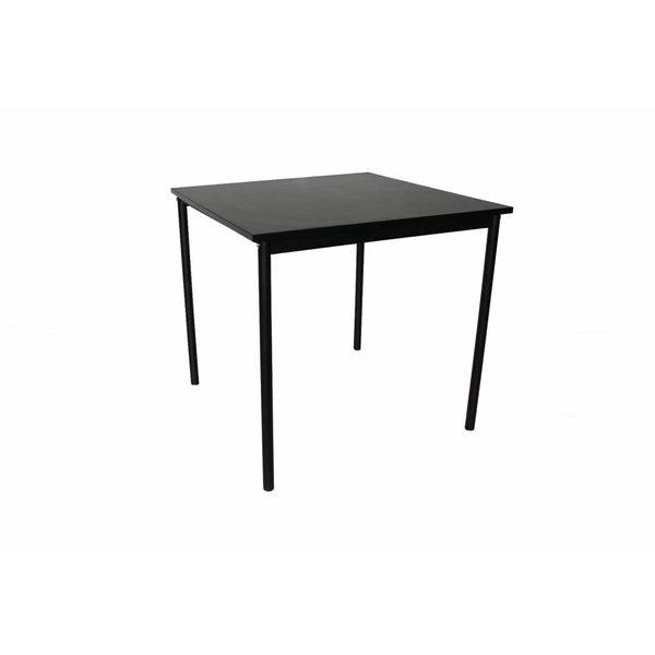 Tafel vierkant zwart 80x80 cm