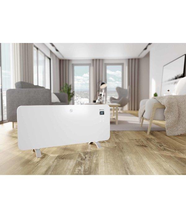 Termofol Elektrische Kachel verwarming – Glazen paneelverwarmer met thermostaat (WiFi) - 2000 W