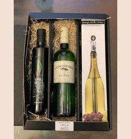 Gift set olijfolie, wijn en koeler