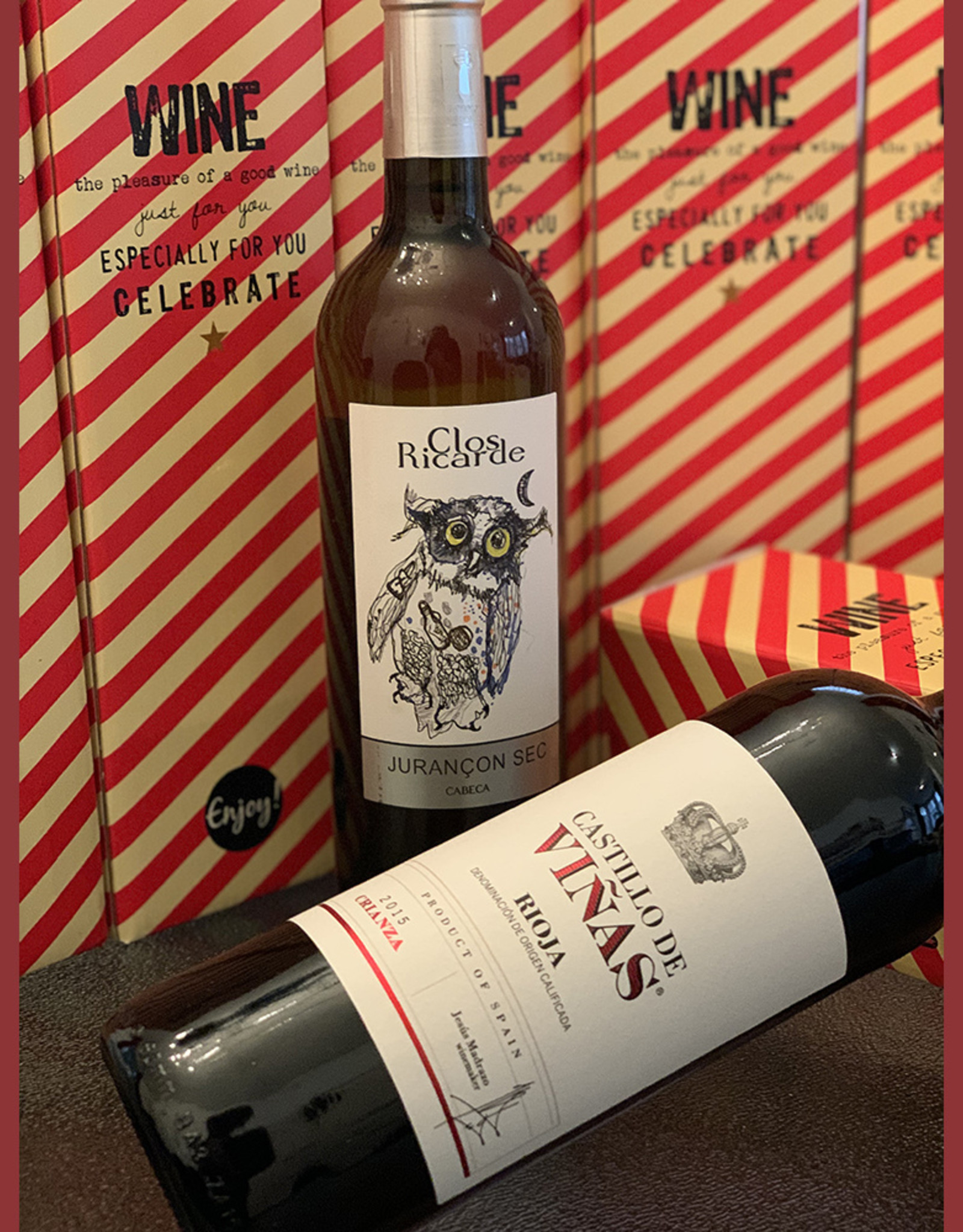 Wine bottle in gift box