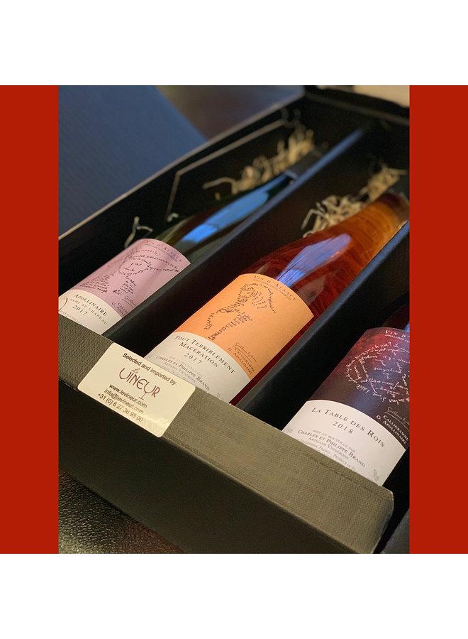 Gift set Philippe Brand natuurwijnen