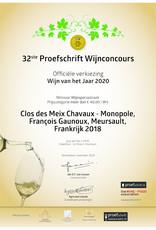 François Gaunoux Meursault Clos des Meix Chavaux Monopole 2018