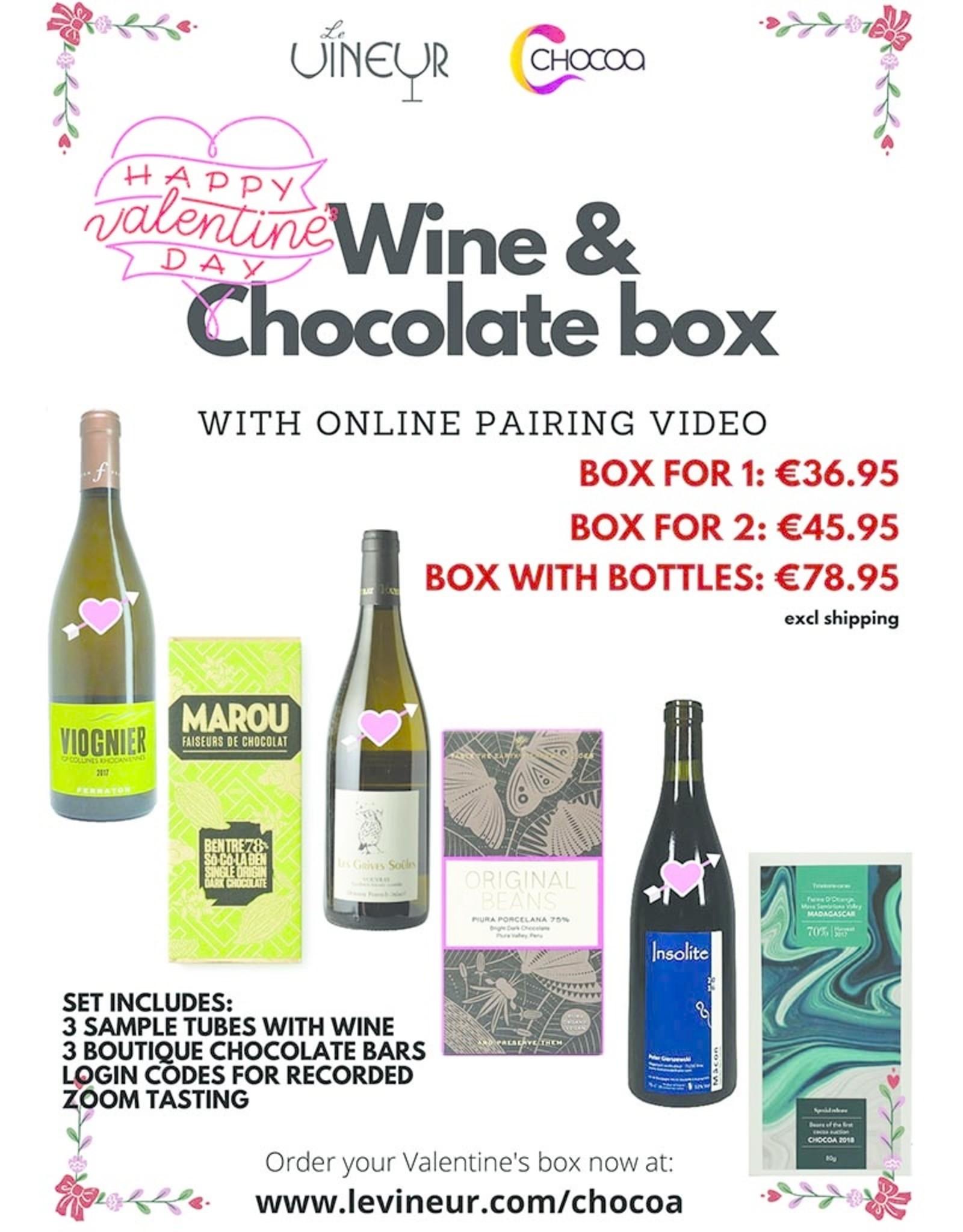 Wine and Chocolate Valentine Tasting Box