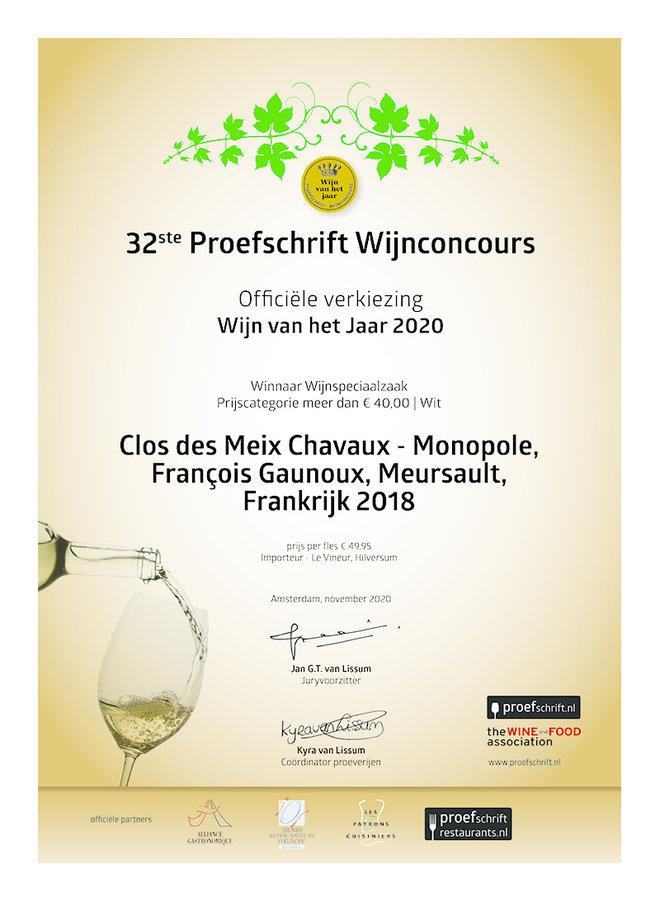 Meursault Clos des Meix Chavaux Monopole 2019