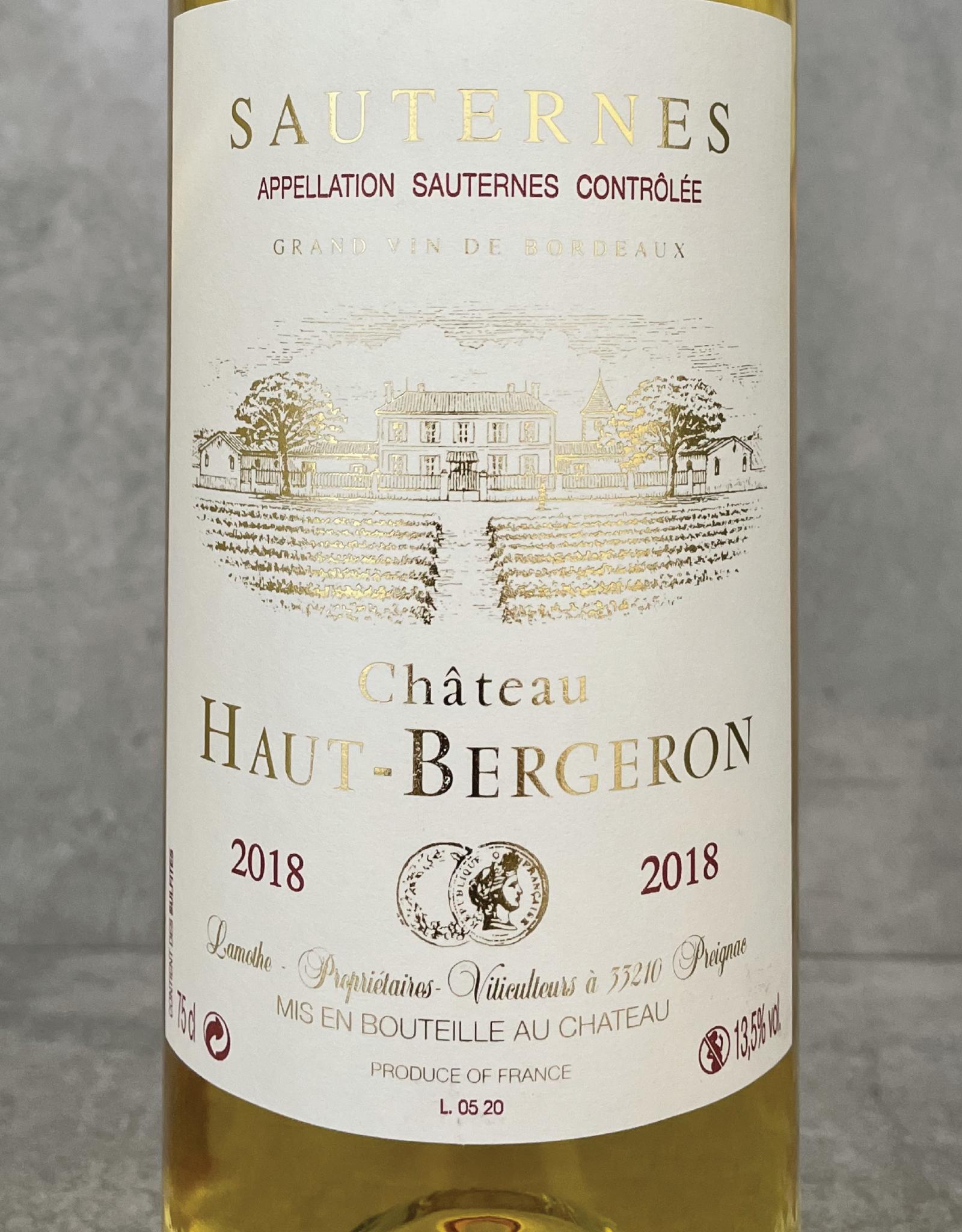 Haut Bergeron Sauternes 1985