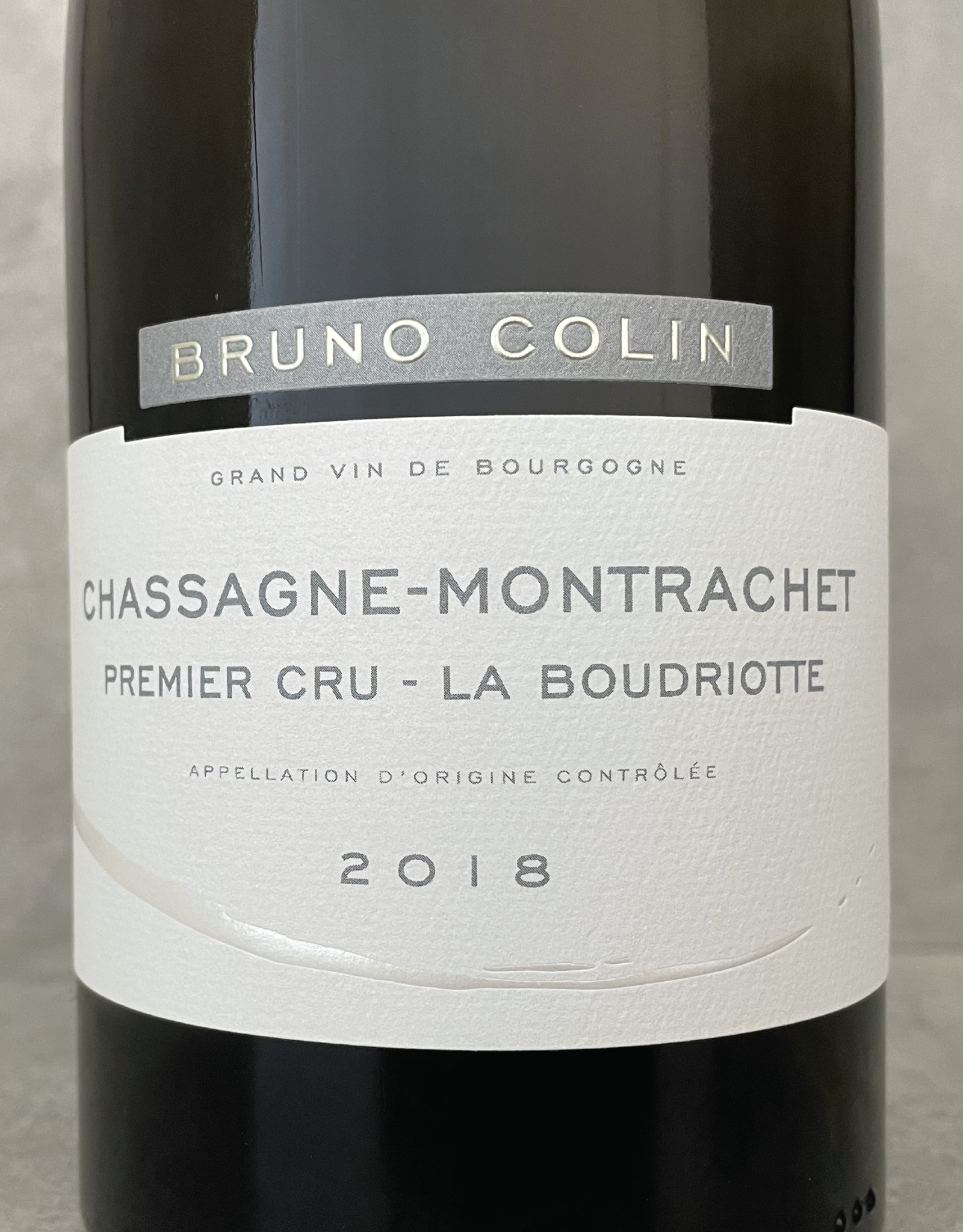 Bruno Colin Chassagne Montrachet 1er La Boudriotte 2018