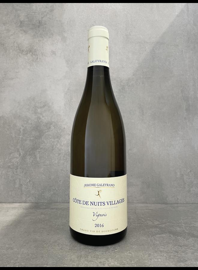 Côtes de Nuits Villages blanc 'vignois' 2016
