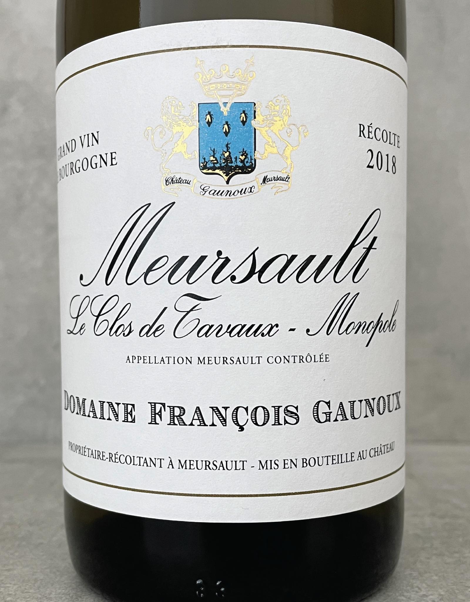 François Gaunoux Meursault Clos de Tavaux Monopole 2018