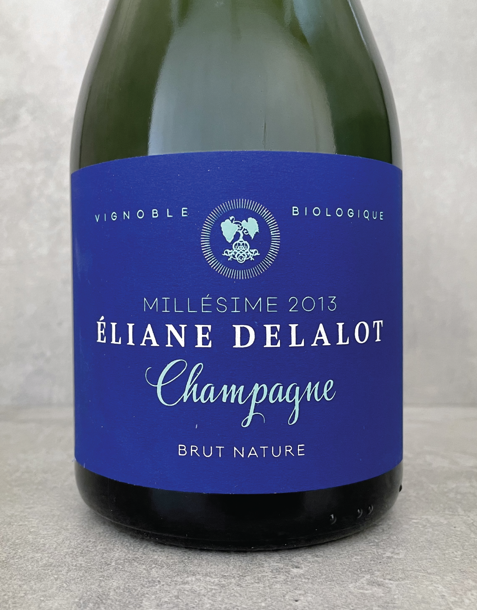 Champagne Delalot Millésime Brut Nature (tirage 895 btl) 2013