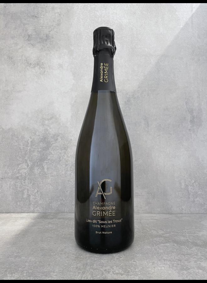 Champagne 'Sous les Trous' (tirage 1697 btl) 2014